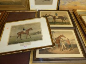 After J Doyle - Mameluke, colour aquatint, 25 x 34cm; together with two other sporting prints; and a