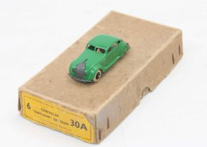 """Dinky Toys original no.30a Chrysler """"Airflow"""" Saloon Trade Box, complete with 1 repainted model."""