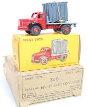 French Dinky Toys, No.34B original Trade box of Berliet Avec Container Lorries, containing