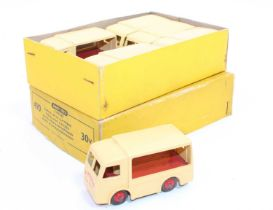 """A Dinky Toys No.490/30V original trade box containing 6x """"Express Dairy"""" electric Dairy vans, all in"""