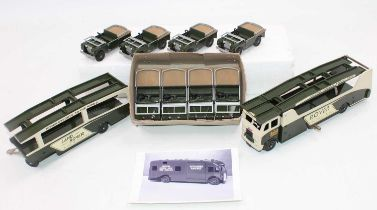"""Dinky Toys No.984, Code 3 by Transport of Delight """"Land-Rover"""" Car transporter and trailer with a"""