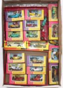 One tray of mainly boxed Matchbox Models of Yesteryear in yellow and pink early window boxes plus