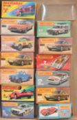 One tray containing 14 Matchbox empty boxes, to include 3x 59 Porsche 928 and many other all