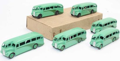 An original no.29e Dinky Trade box of 6x Single Deck buses in green all in very good condition for