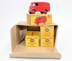 An original Dinky Toys Trade Box No.260 Royal Mail Vans, the box contains 4 original boxed