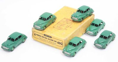 Dinky Toys 40g original Trade box of 6 Morris Oxford saloons in green all in excellent condition for