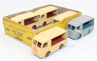 """A Dinky Toys No.491 Original """"NCB"""" Trade box containing 5 """"NCB"""" electric Dairy models with age-"""