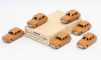 Dinky Toys 40f original Trade box of 6 Hillman Minx in butterscotch all in superb condition for