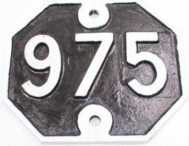 Original Great Eastern Railway Bridge Plate Number 975 from the Bury-Sudbury branch within town