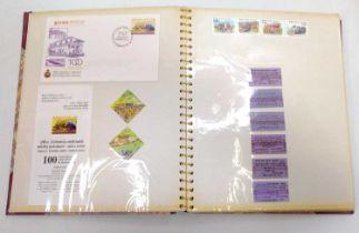 1 album containing a quantity of Sri-Lankan related railway ephermera