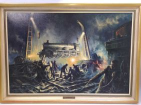 """Don Breckon (1935-2013) """"Aftermath"""" original oil on canvas, signed and dated 1973, depicting the """""""