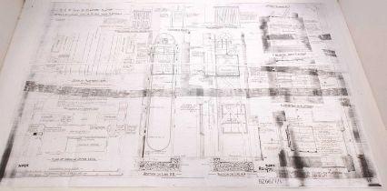 Photocopy of Bury St Edmunds station plans 1882