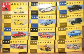Vanguards 1/43rd scale diecast vehicle group, 12 examples all in original boxes to include Austin
