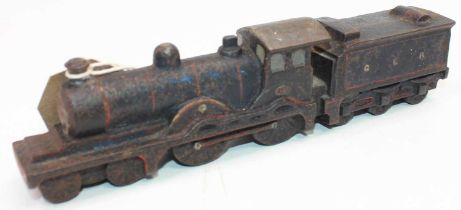 An original cast iron Great Eastern Railway paper weight, in the shape of a Holden 4-4-0