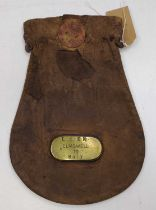 An original LNER Cash Bag, the brass plaque to read LNER Elmswell to Bury, rare example