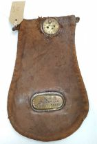 Original LNER wages or cash bag, brass plated to read Barnham and Bury St Edmunds, very rare