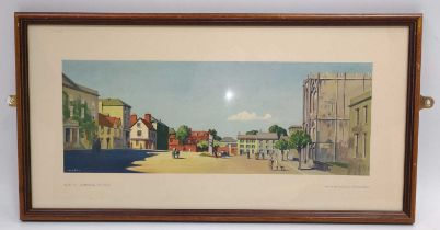 """An original railway carriage print """"BURY ST EDMUNDS, SUFFOLK"""" by Fred Donald Blake R.I from the"""