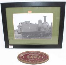 Original brass London North Eastern Railway works plate No.8497, originally from the Class J69 BR