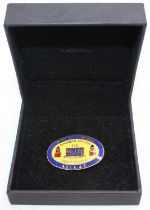 Collectable enamel ASLE&F badge for the closure of Bury St Edmunds 31E depot, dated November 26th