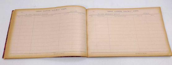 An original GER 1924 Ambulance Corps Brigade Book, ex Bury St Edmunds, has been annotated to a few