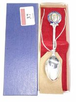 A British Railways Staff Association presentation tea spoon (Won by George Beeton of Bury St