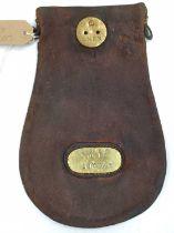 An original LNER wages cash bag, brass plated LNER Wages Saxham, rare example