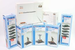 A collection of various Master Tools and Brekina boxed perspex display cases, various examples of