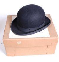 A Herbert Johnson of New Bond Street, London gent's bowler hat, size 6 & 7/8s (56), boxed;