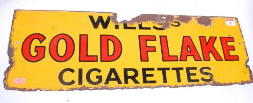 A Will's Gold Flake Cigarettes enamel advertising sign, 20 x 61cm