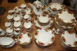 An extensive Royal Albert Old Country Roses pattern tea, coffee and dinner serviceCondition