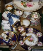 A collection of various ceramics, to include an 18th century Worcester saucer, a Royal Doulton