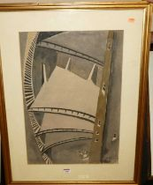 George Bissell (1896-1793) - Metropolis, watercolour, signed and dated lower right 1926, 56x39cm,