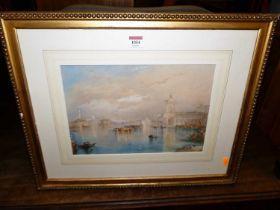 After JMW Turner - Venice, watercolour, 24x35cm
