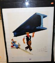 G&B Arts Ltd, Limited edition advertising screen print for Guinness No. 9/250, the full sheet