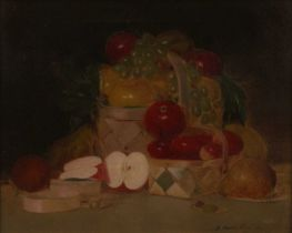 Bertrum Walter Priestman (1868-1951) - Still Life Fruit Study, oil on canvas, signed lower right, 41