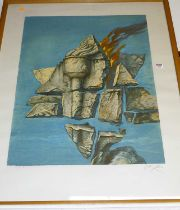 Samuel Bak - untitled artists proof lithograph, signed in pencil to the margin, 77x59cm
