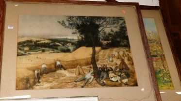 After Vincent Van Gogh - landscape scene, lithograph, and one other (2)