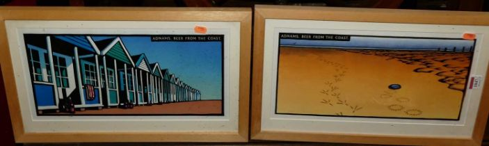 A collection of Christopher Wormell advertising prints for Adnams Beer, the largest 37x28cm (7)