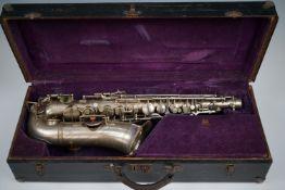 A vintage Alex Smith Sioma saxophone, circa 1930s