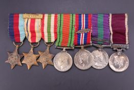 A Second World War and post-War miniature campaign and long service medal group