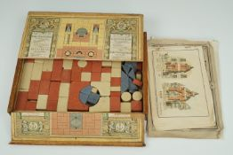 """A cased late 19th Century """"Anchor Blocks"""" toy construction set"""