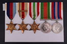 A Second World War campaign medal group including Africa Star with 1st Army clasp