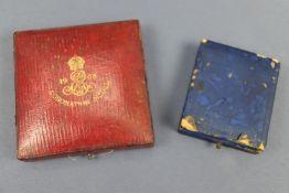 Two cased Edward VII coronation medallions