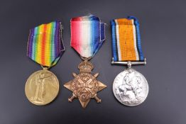 A 1914 Star, British War and Victory medals to 21145 Dvr / Spr F Hurst, Royal Engineers