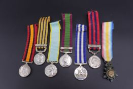 Sundry miniature campaign medals