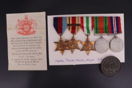 A Second World War group of casualty campaign medals, those of Captain James Mosley Mayne, Royal