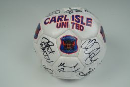 A signed Carlisle United 1998-99 season football