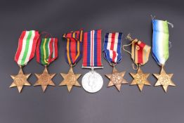 A collection of Second World War campaign medals, (7)