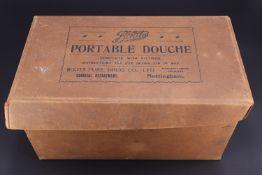 A Boots the Chemists portable vaginal douche and enema apparatus, in original carton, circa 1930s