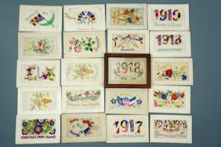 20 Great War silk postcards